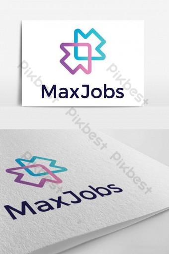 diseño de logo para una plataforma de búsqueda de empleo Modelo PSD