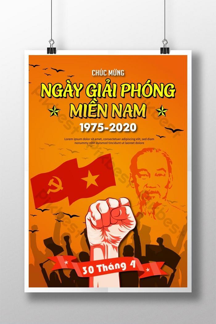 poster ngày giải phóng miền nam anh hùng lần thứ 304