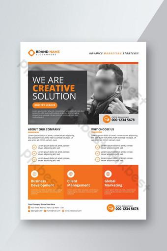 Modèle de Flyer d'entreprise moderne orange et entreprise Modèle AI