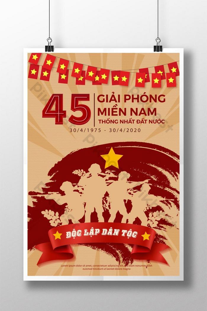 poster giải phóng ngày 30 tháng tư cho thống nhất