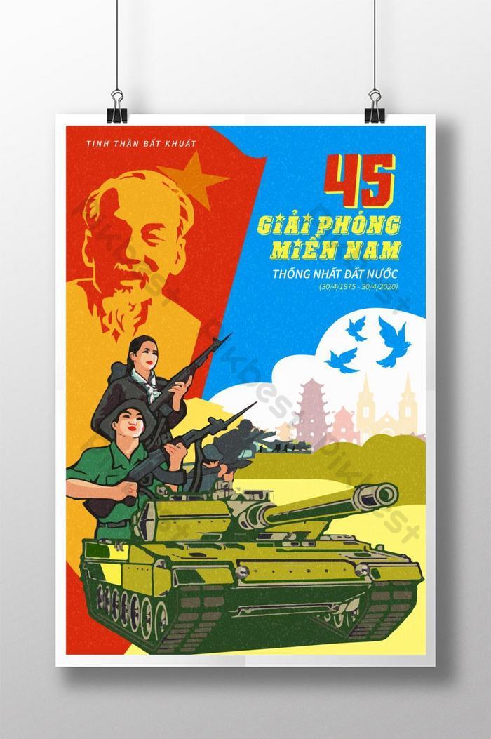 poster giải phóng miền nam ngày 30 tháng 4 kỷ niệm 45 năm ngày thống nhất đất nước