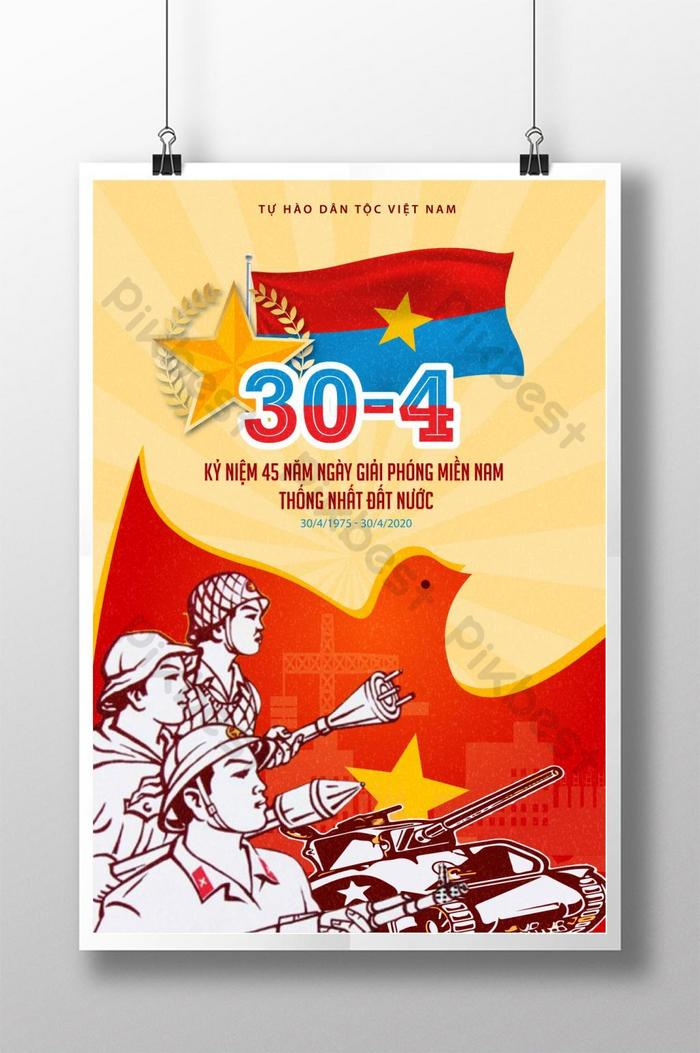 poster ngày giải phóng miền nam việt nam 30 tháng 4 đoàn tụ dân tộc với niềm tự hào dân tộc