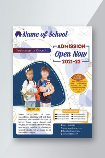 Admission ouverte 2021 pour l'école Flyer Template PSD Modèle PSD