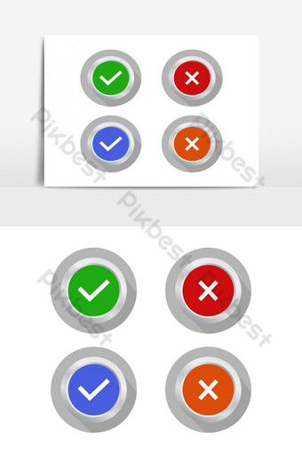 check and error illustrated in vector on white background PNG Images Template EPS