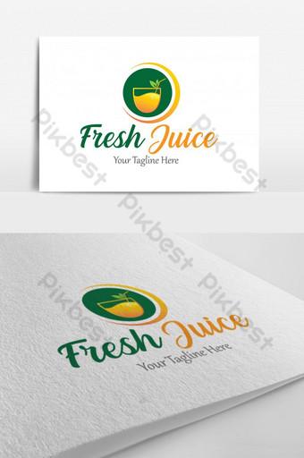 Disenyo ng sariwang juice ng juice Imahe ng PNG Template EPS