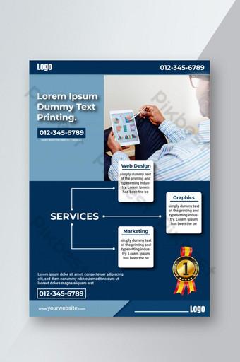 Modern Service showcase flyer, poster Template AI
