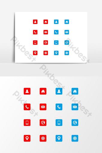 conjunto de iconos de tarjeta de visita iconos vectoriales tarjeta de visita icono de información de tarjeta de visita vector Elementos graficos Modelo EPS