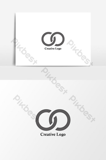 infinito logo vector ola letras icono signo creativo Elementos graficos Modelo AI