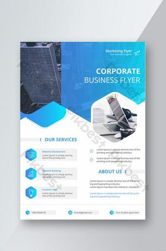 قالب ملصق نشرة إعلانية للشركات مع تخطيط تصميم غلاف كتيب متدرج اللون قالب EPS