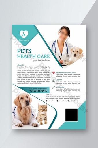 Modèle de Flyer de soins de santé pour animaux de compagnie Modèle PSD