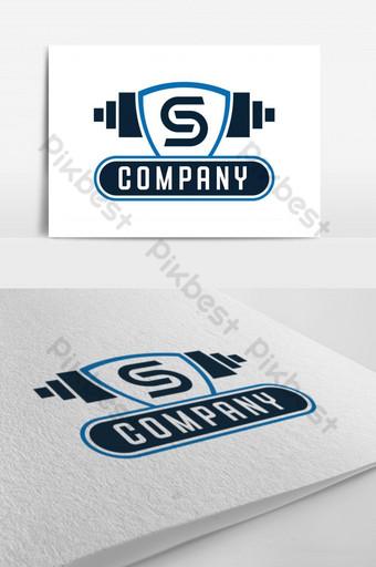 diseño de logotipo de vector de fitness de letra s Modelo PSD