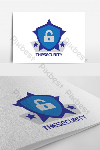Cyber Security Protection Shield Logo Template AI