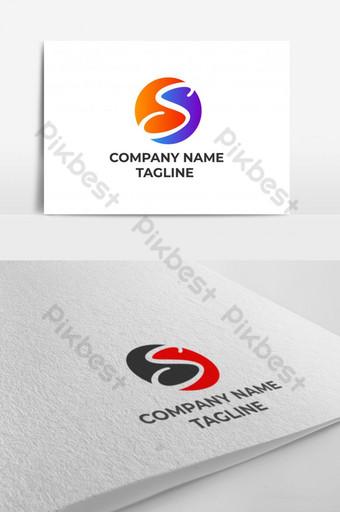 Letra inicial creativa s diseño de logotipo elemento vector concepto de gradación Modelo EPS
