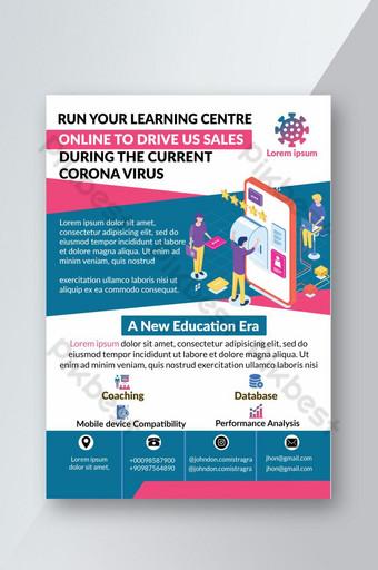 Dépliant pédagogique sur le virus Corona Modèle PSD