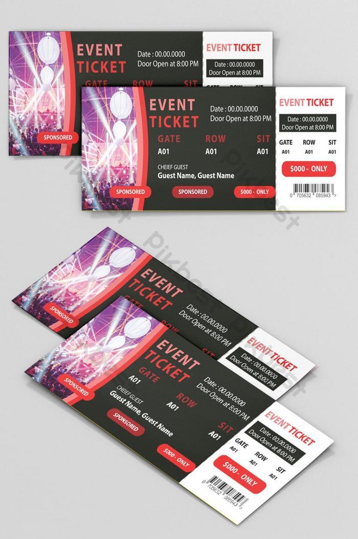 Event Ticket Design Free Download Invitation Ticket Design Free Download Psd Free Download Pikbest