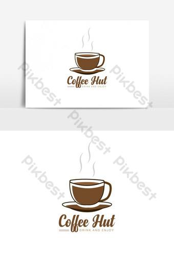 logo abstracto coffeeeeeee choza para restaurante Elementos graficos Modelo AI