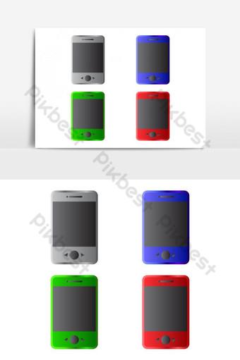 smartphone ilustrado en vector sobre fondo blanco Elementos graficos Modelo EPS
