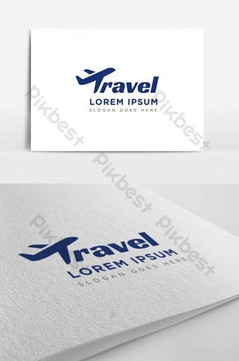 agencia de viajes empresa logo creativo Modelo AI