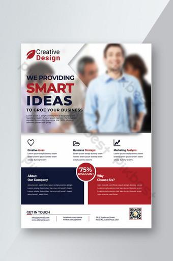 Corporate Business Flyer ajouter un modèle nous fournissant des idées intelligentes modèle de conception créative Modèle AI