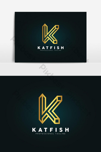 Plantilla de diseño de logotipo de letra k de lujo Elementos graficos Modelo AI