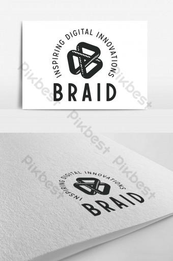 Inspirador logo de innovación digital. Modelo PSD