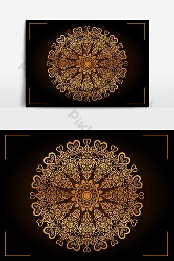 design de mandala de amor de luxo Elementos gráficos Modelo EPS