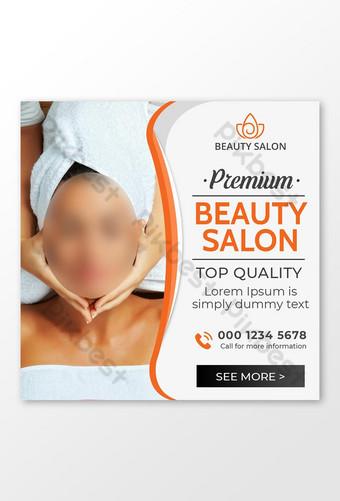 Publication de médias sociaux de salon de beauté haut de gamme ou flyer carré Modèle PSD