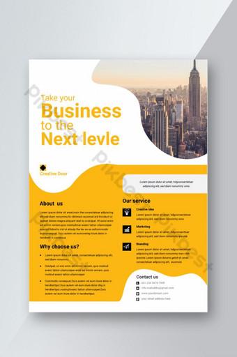 folleto de negocios corporativos diseño de plantilla eps vector a4 folleto de agencia Modelo AI