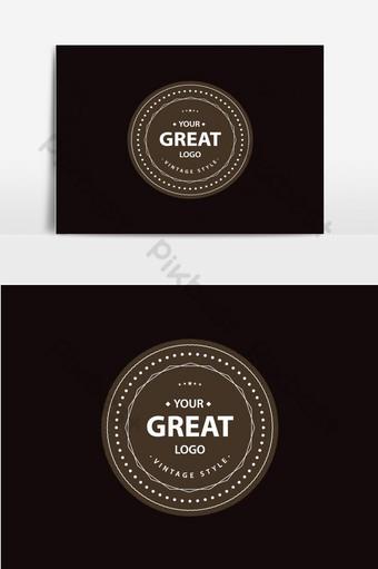 diseño de logotipo vintage elemento gráfico vectorial retro coffeeeeeee emblema insignia logo retro vintage Elementos graficos Modelo EPS