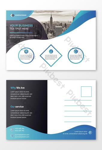 carte postale de visite professionnelle Carte postale créative Carte postale élégante professionnelle Modèle AI