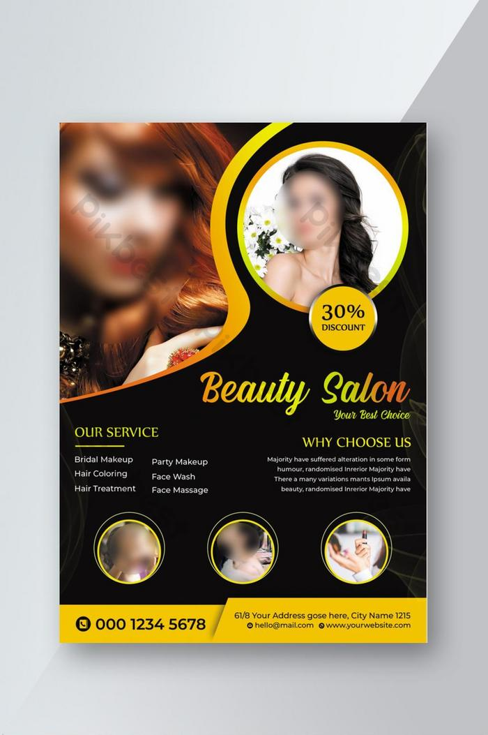 Beauty Salon Flyer Template Psd Free Download Pikbest