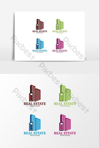 عقارات تصميم شعار جميل صور PNG قالب PSD