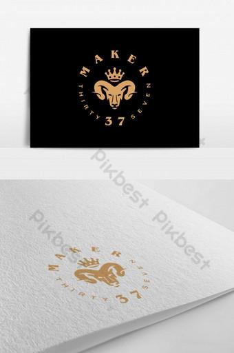 logotipo del rey de las cabras para una empresa Modelo PSD