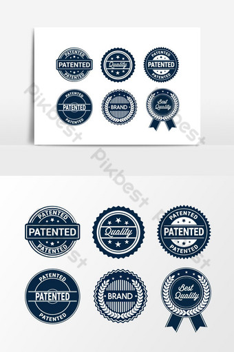 blue creative vector marketing icon set for advertising element graphic design PNG Images Template EPS