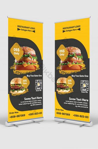 tienda de hamburguesas nuevo roll up banner Modelo AI
