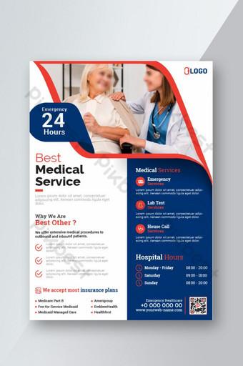 Dépliant médical affiche brochure couverture conception mise en page fond Modèle EPS