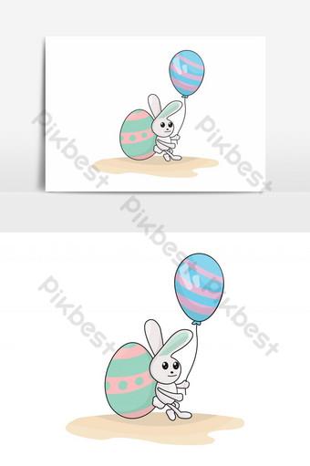 سعيد عيد الفصح الأرنب لطيف الأرنب صور PNG قالب EPS