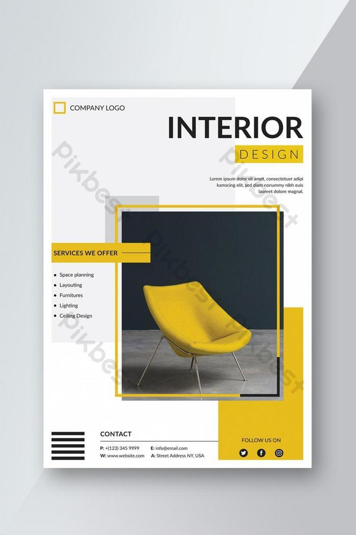 creative interior design flyer template
