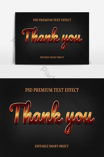Conception d'effet de texte Merci Éléments graphiques Modèle PSD