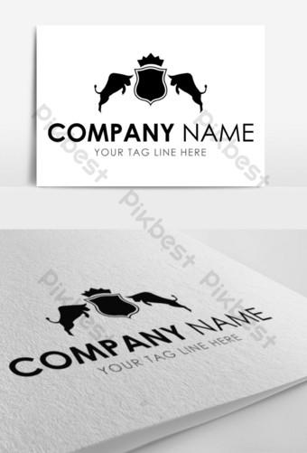 logo de toro negro con escudo Modelo EPS