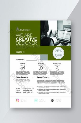 Le meilleur design de flyer de créateur créatif Modèle PSD