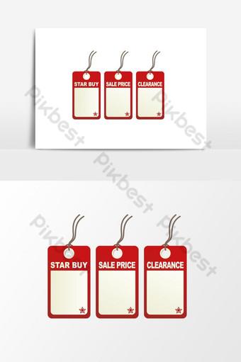 vector y etiqueta roja decorativa creativa para etiquetas de promoción de precios elemento gráfico Elementos graficos Modelo EPS