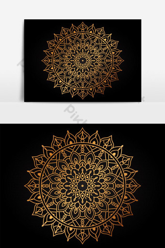 forma de mandala simple para colorear vector mandala floral flor oriental libro página ou Elementos graficos Modelo AI