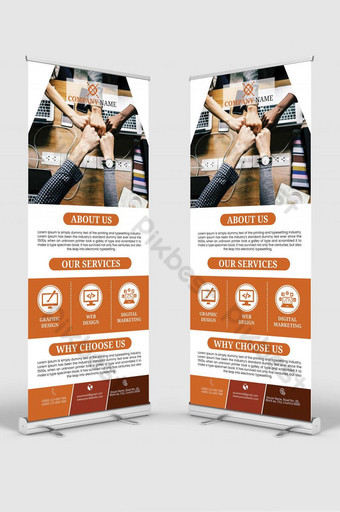Service Roll Up Banner Free Download   Corporate Roll Up Banner Design Free Download Template AI