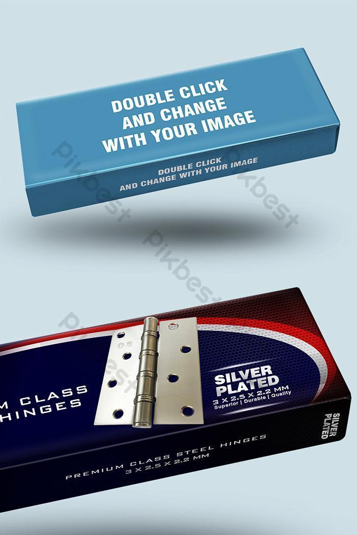 clean box packaging psd mockup