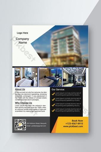 Flyer promotionnel d'hôtel simple Modèle PSD