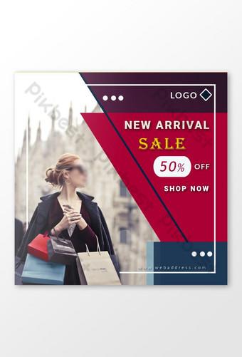 banner de venta de compras de moda y vestido bonito de moda Modelo PSD