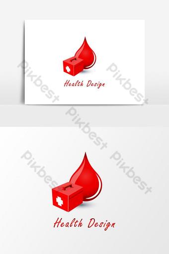 elemento de sangre roja de salud hermosa creativa y diseño gráfico de herramientas de medicamentos hospitalarios Elementos graficos Modelo EPS