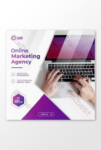 Conception de modèle de publication de médias sociaux instagram marketing en ligne Modèle PSD