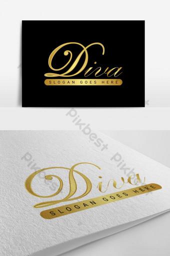 diva logo design d letra logo design Modelo AI